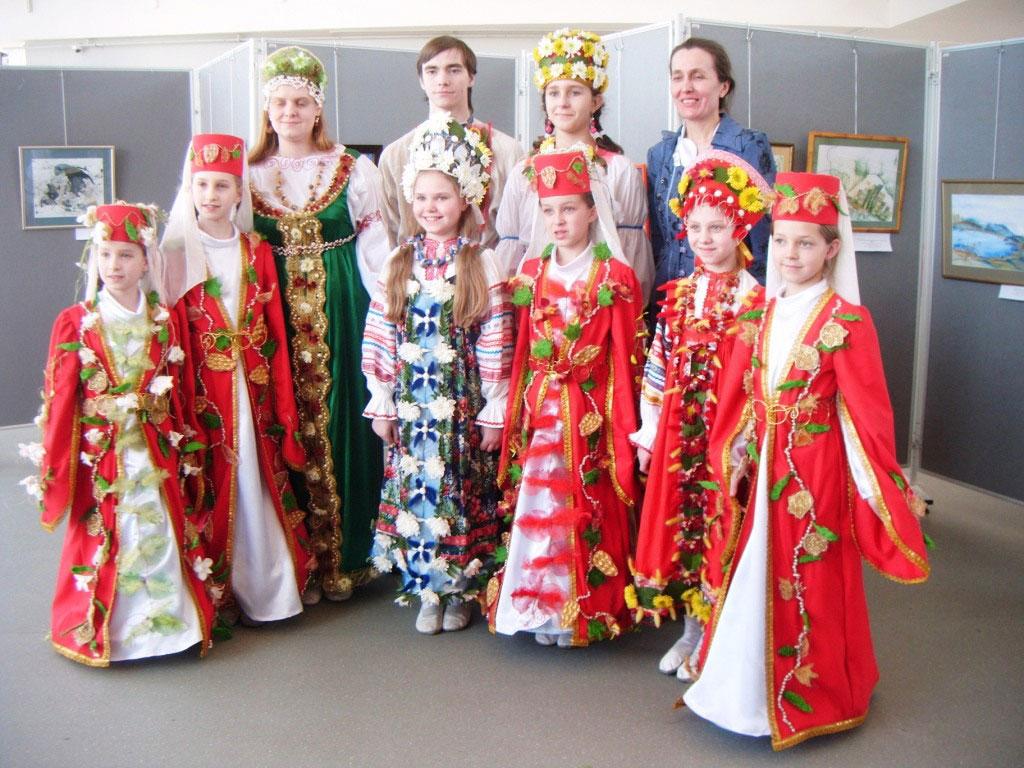 народные костюм россии картинки